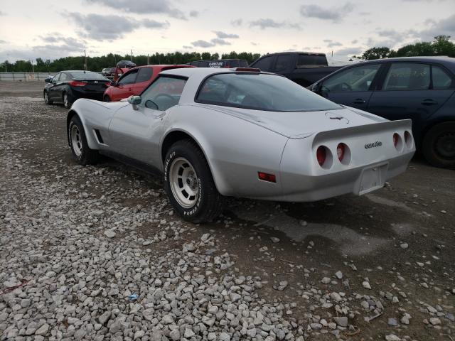 1981 Chevrolet Corvette Gray  - rear left view