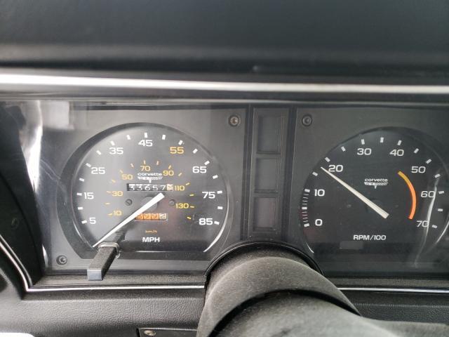 1981 Chevrolet Corvette Gray  - odometer