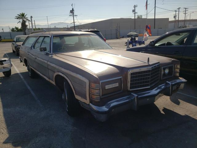 1975 Ford Ltd Brown  - front right view