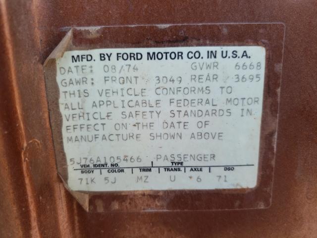 1975 Ford Ltd Brown