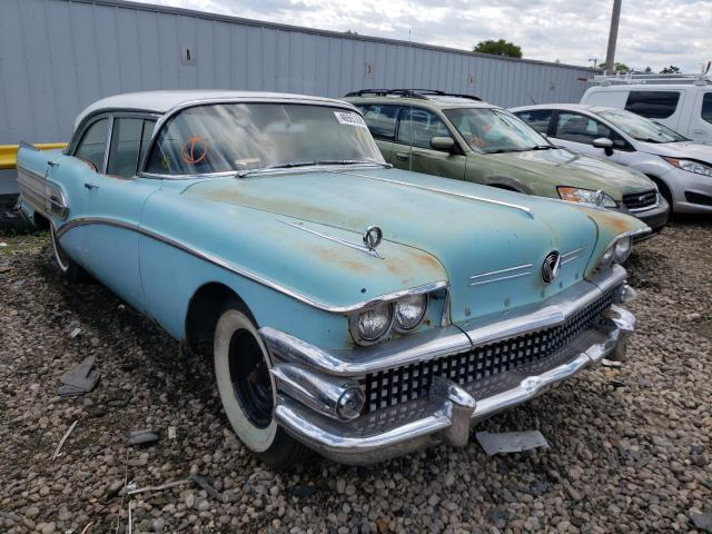1958 Buick Special Teal  - front right view