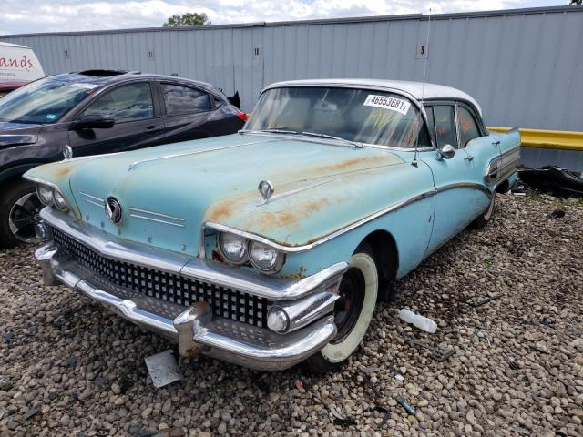 1958 Buick Special Teal  - front left view