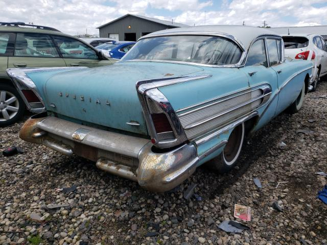 1958 Buick Special Teal  - rear right view
