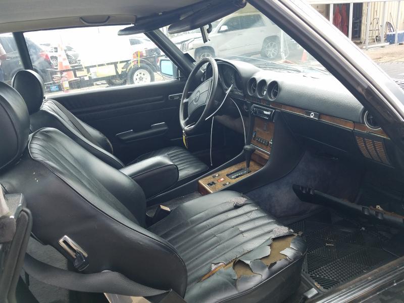 1987 Mercedes Benz 560 Sl Black  - interior - front