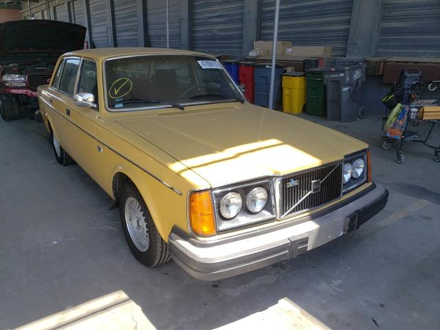 1979 Volvo 244 Dl Yellow  - front right view