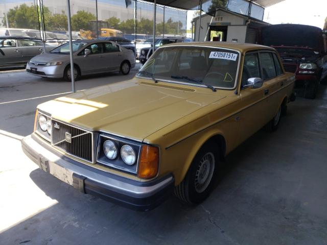 1979 Volvo 244 Dl Yellow  - front left view