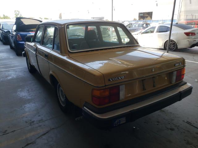 1979 Volvo 244 Dl Yellow  - rear left view
