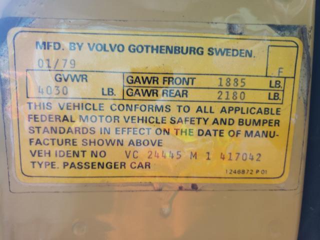 1979 Volvo 244 Dl Yellow