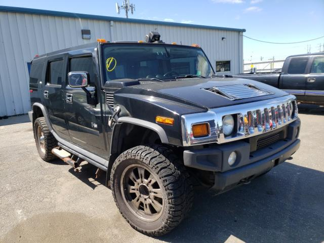 2003 HUMMER H2 Black  - front right view
