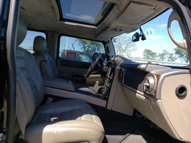 2003 HUMMER H2 Black  - interior - front