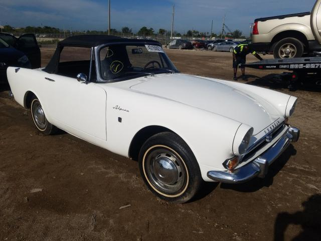 1965 Sunb Alpine White  - front right view