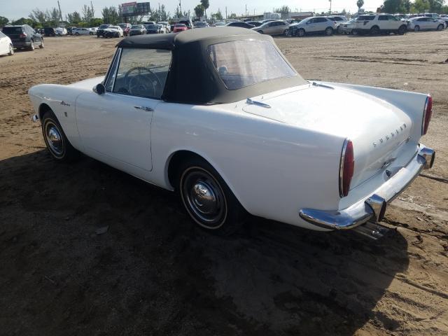 1965 Sunb Alpine White  - rear left view