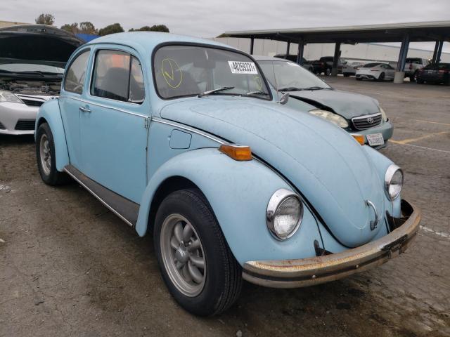 1973 Volkswagen Beetle Turq  - front right view
