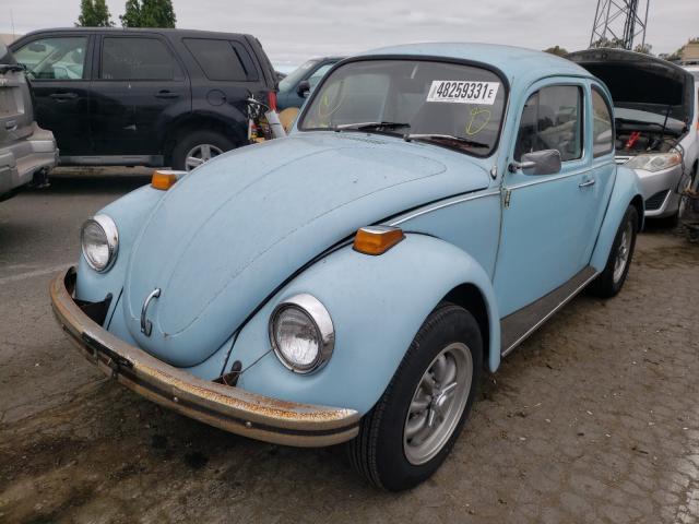 1973 Volkswagen Beetle Turq  - front left view