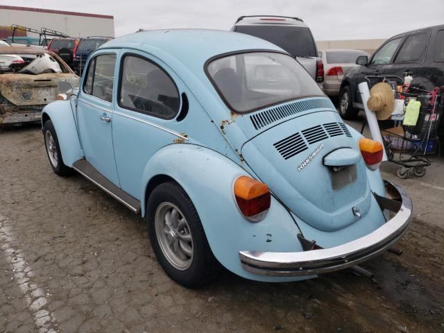 1973 Volkswagen Beetle Turq  - rear left view