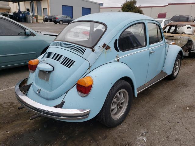 1973 Volkswagen Beetle Turq  - rear right view