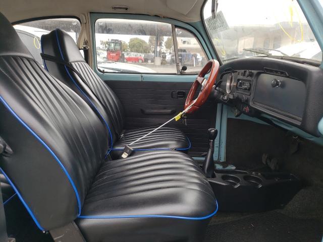 1973 Volkswagen Beetle Turq  - interior - front