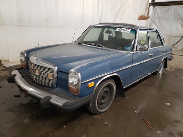 1974 Mercedes Benz 240 Blue  - front left view