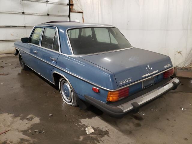 1974 Mercedes Benz 240 Blue  - rear left view