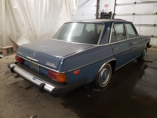 1974 Mercedes Benz 240 Blue  - rear right view