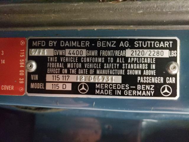1974 Mercedes Benz 240 Blue
