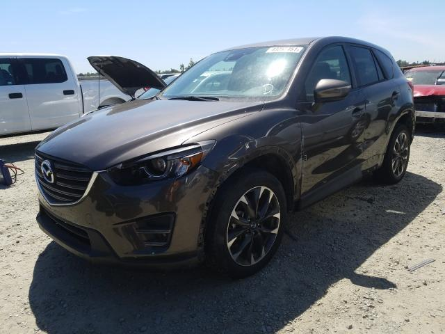 2016 Mazd Cx-5 Gt Gray  - front left view