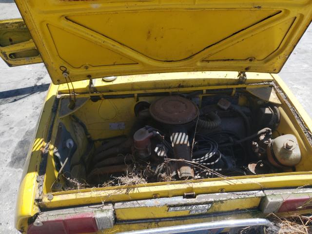 1972 Fiat Spider Yellow  - engine