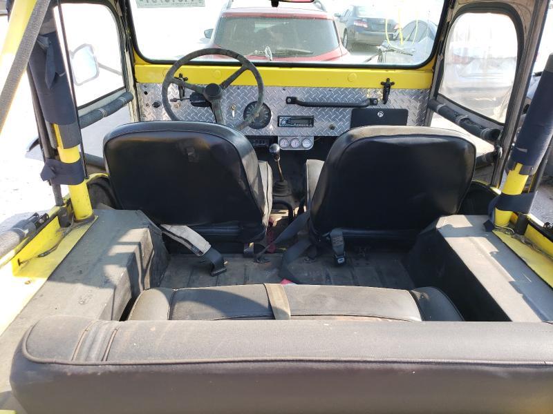 1967 Jeep Cj-5 Yellow  - back view