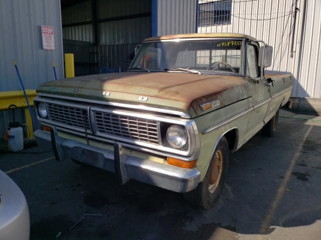 1970 Ford F-100 Green  - front left view