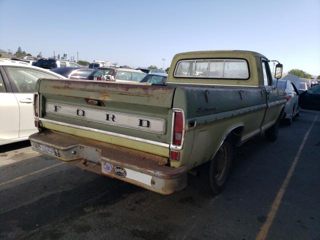 1970 Ford F-100 Green  - rear right view