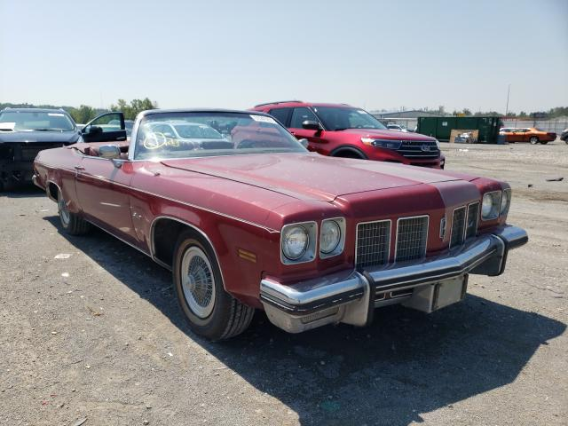 1975 Oldsmobile Delta 88 Burgundy  - front right view