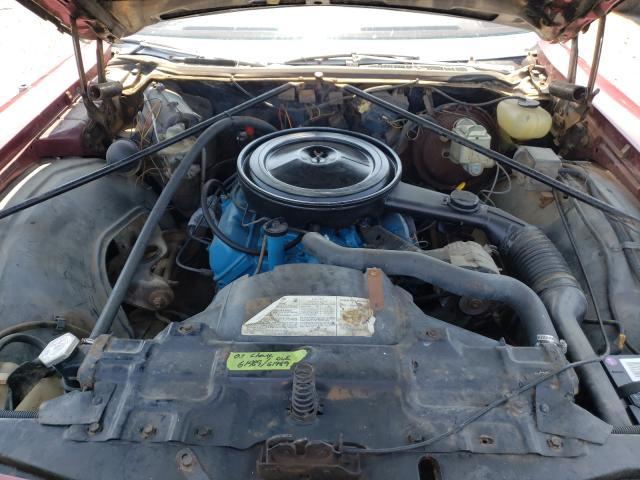 1975 Oldsmobile Delta 88 Burgundy  - engine