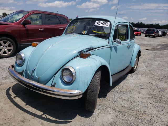 1972 Volkswagen Beetle Blue  - front left view