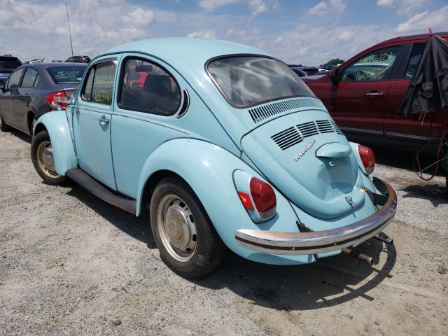 1972 Volkswagen Beetle Blue  - rear left view