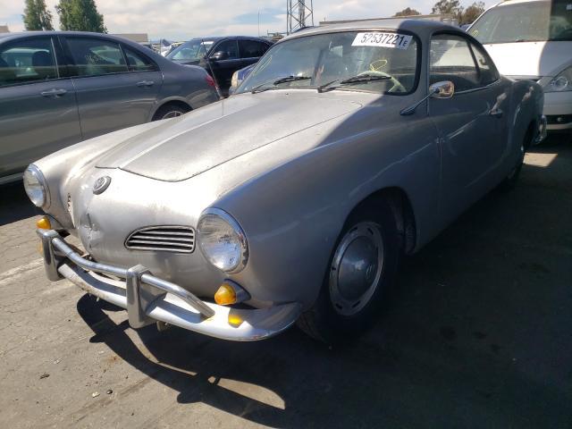 1965 Volkswagen Beetle Gray  - front left view