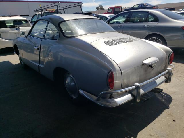 1965 Volkswagen Beetle Gray  - rear left view