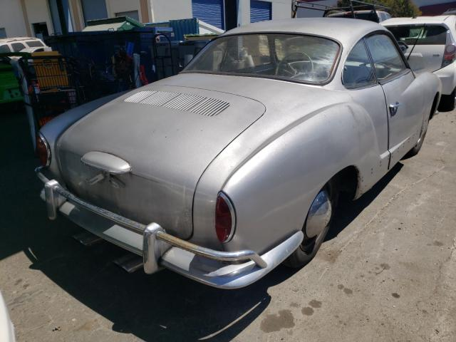 1965 Volkswagen Beetle Gray  - rear right view