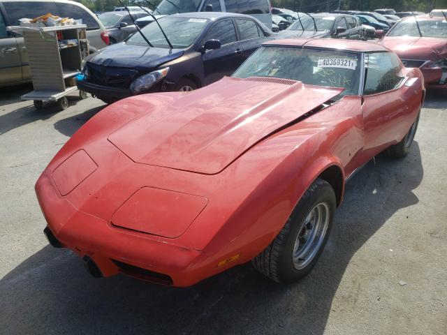 1975 Chevrolet Corvette Red  - front left view