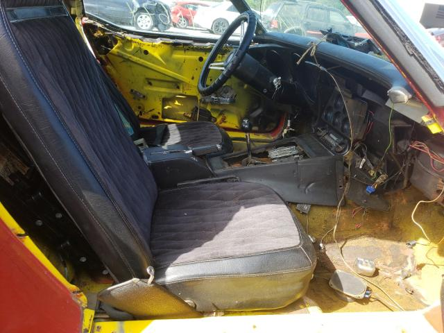 1975 Chevrolet Corvette Red  - interior - front