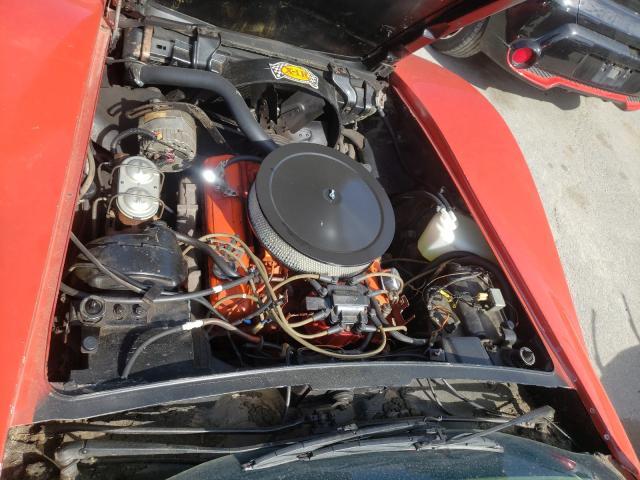 1975 Chevrolet Corvette Red  - engine