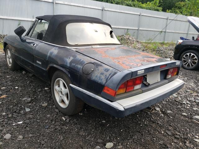 1986 Alfa Spider Black  - rear left view