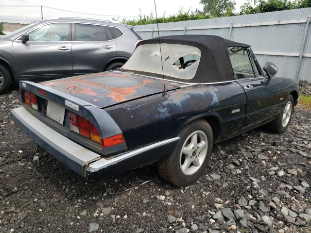 1986 Alfa Spider Black  - rear right view