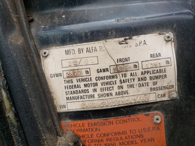 1986 Alfa Spider Black