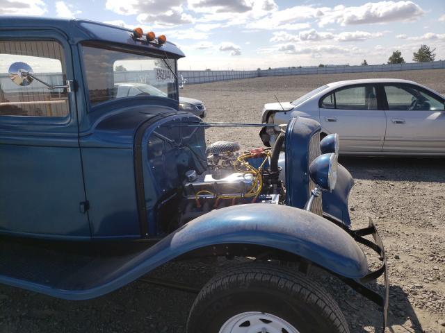 1932 Ford Uk Blue  - odometer